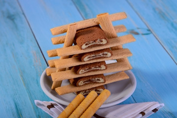 ..slide the roll biscuit sticks