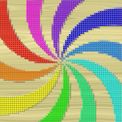 Rainbow swirl pixelated image generated texture