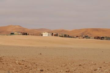 Topnaar-Siedlung in der Namib (bei Rooibank)
