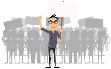 perso tertiaire et groupe en grève