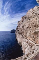 Italy, Sardinia, view of the Capo Caccia promontory