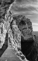 Italy, Sardinia, view of the Capo Caccia promontory