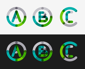 Minimal line design logo set