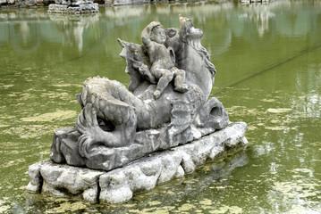 fountain, skulpture