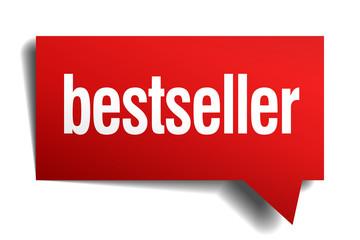 bestseller red 3d realistic paper speech bubble