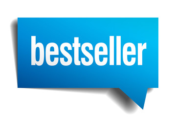 bestseller blue 3d realistic paper speech bubble