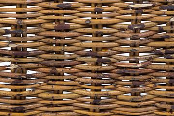Image of basket's wooden texture