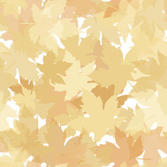 Autumn seamless background with leaves.