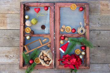altes Weihnachtsfenster