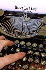 Alte Schreibmaschine, Newsletter Wort