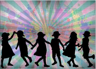 children silhouette