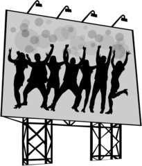 billboard - poster of dancing people