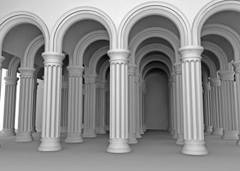 weiße Säulen.
