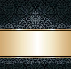 Black & gold luxury vintage wallpaper background
