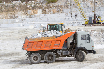 marble quarry, white marble