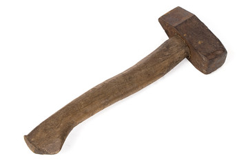 Isolated image of old hammer