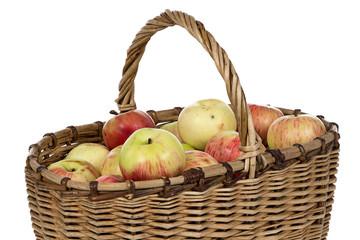 Image of wicker basket wih apples