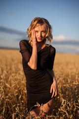 Woman in Wheat Field