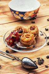 four cakes recipe Oriental sweets