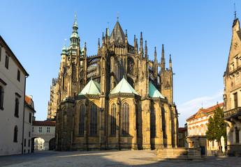Gothic cathedral of Saint Vitus in Prague