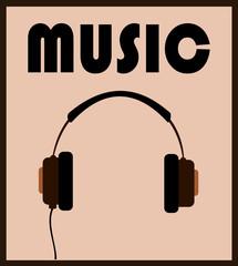 music headphones graphic design