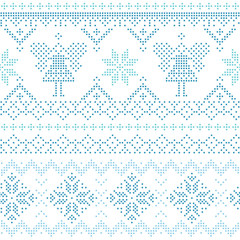 Christmas Scandinavian Card - for invitation, wallpaper