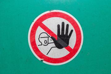 machine sign warning safety