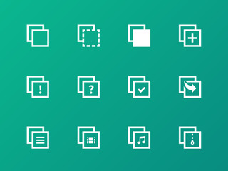 Copy Paste icons for Apps, Web Pages.
