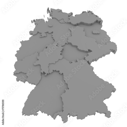 canvas print picture Deutschland Bundesländer