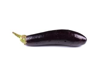 Black eggplant isolated on white