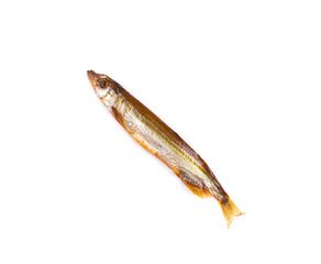 Smoked fish isolated
