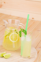 Lemonade on the wooden background