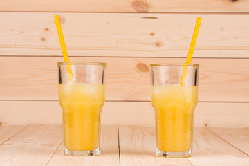 glasses of fresh orange juice