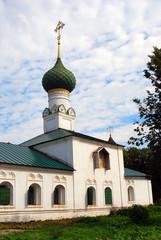 Old Russian orthodox church building. Yaroslavl, Russia.