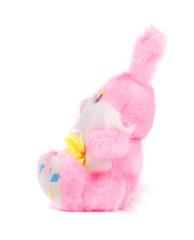 Toy pink rabbit