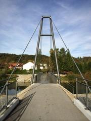 Brückenarchitektur Walsersteg Wolfratshausen