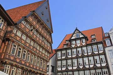 Hildesheim: Berühmtes Knochenhaueramtshaus (Niedersachsen)