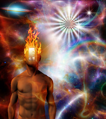 Burning mind in cosmic space