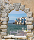 Fototapeta Panoramic view of little Venice on Mykonos Island, Greece