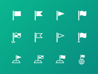 Flag icons on green background.