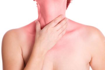 Halsschmerzen - isoliert