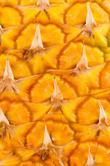 Close up texture of fresh pineapple