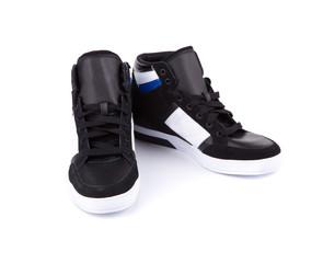 Pair of black sport sneakers