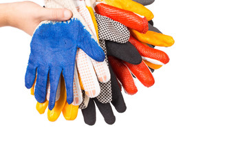 Rubber gloves on a hand