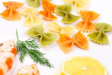Closeup of Bow tie pasta