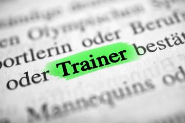 Trainer - güne Markierung
