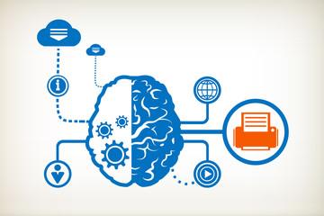 Printer and abstract human brain
