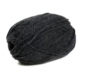 black yarn isolated on white