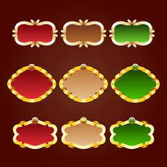 Vector set of template frames