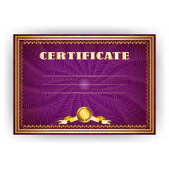 Horizontal royal certificate with lace pattern